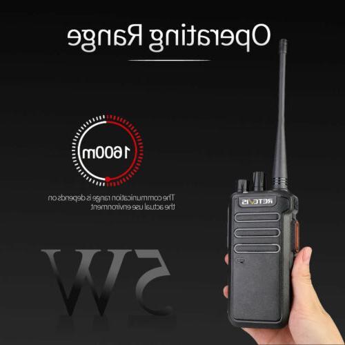 Walkie Talkies DMR UHF Portable Radio 5W 1400mAh Retevis
