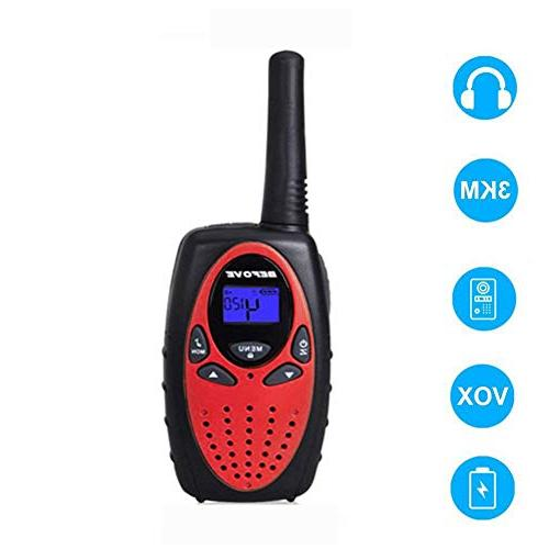 Befove Walkie Talkies Range Battery 22 Channel Two Way Radios 4 Pack Adult Festival Gifts