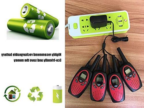 Befove Walkie Range Rechargeable Battery Charger Radios Handheld Pack Walkie Talkies Adult Festival Gifts