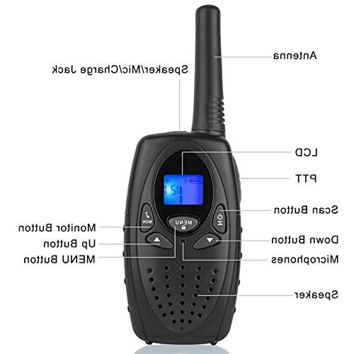 Walkie Talkies Topsung M880 FRS Way Radio Long with VOX Held Walky Talky 22 Channel for