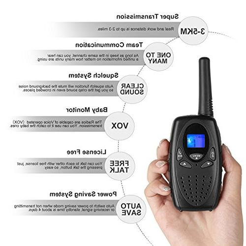 Walkie for Topsung M880 FRS Way Long with VOX Belt 22 Channel 3 Mile for Home Cruise Ship