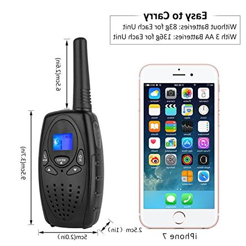 Topsung Way with VOX Belt Held Walky Talky 22 for Family Home Ship Camping