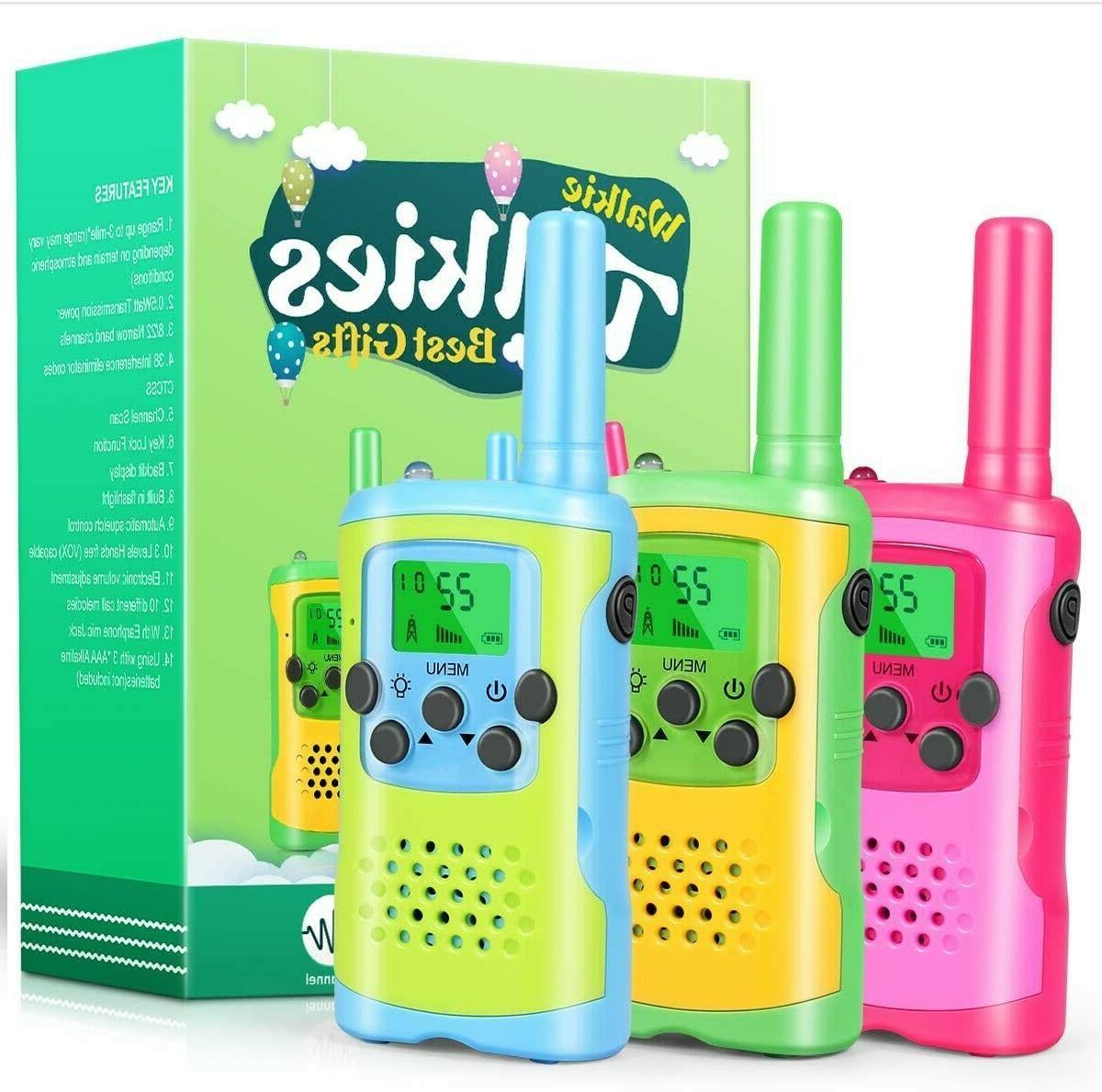 walkie talkies for kids 3 pack 22