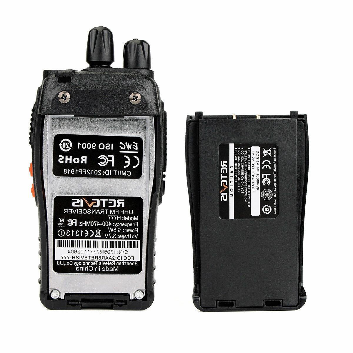 Walkie UHF 16CH VOX 2-Way Radio+Earpiece+PTT