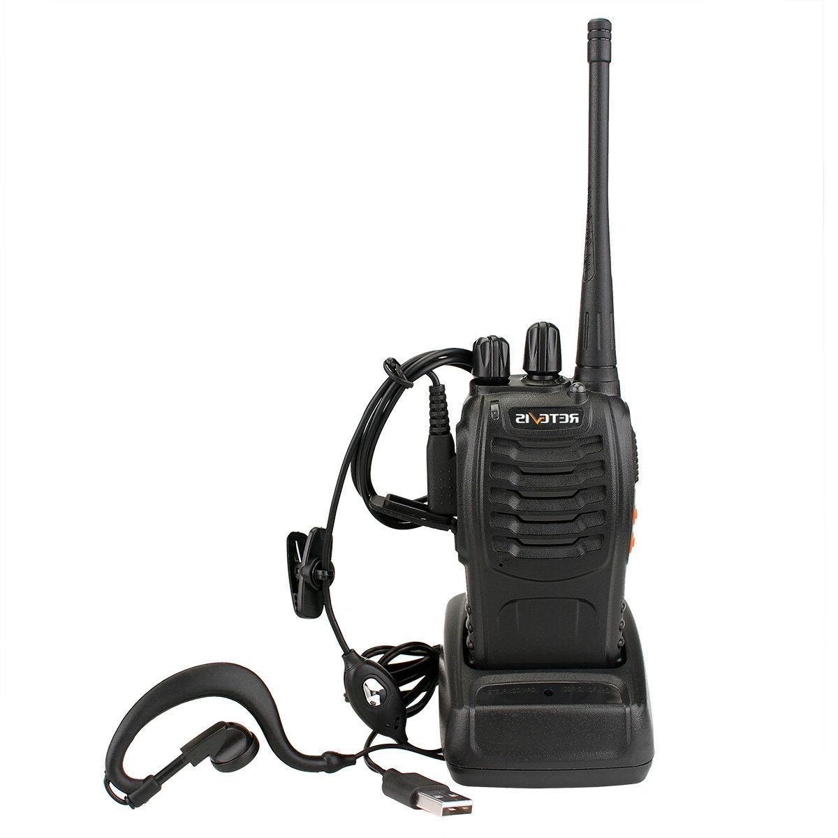Walkie Talkies UHF VOX Radio+Earpiece+PTT Speaker Mic US