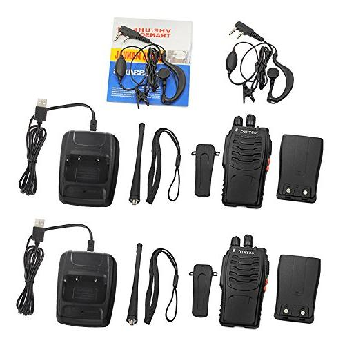 ESYNiC Talkies pcs Radio USB Cable Charging Walky Talky FM