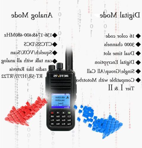 Walkie DMR Digital/Analog UHF+VHF