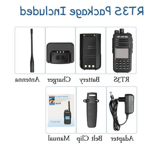 Walkie Talkies Retevis DMR Radio UHF+VHF 5W US