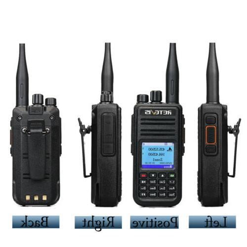 Walkie DMR Handheld Radio UHF+VHF 5W VOX US