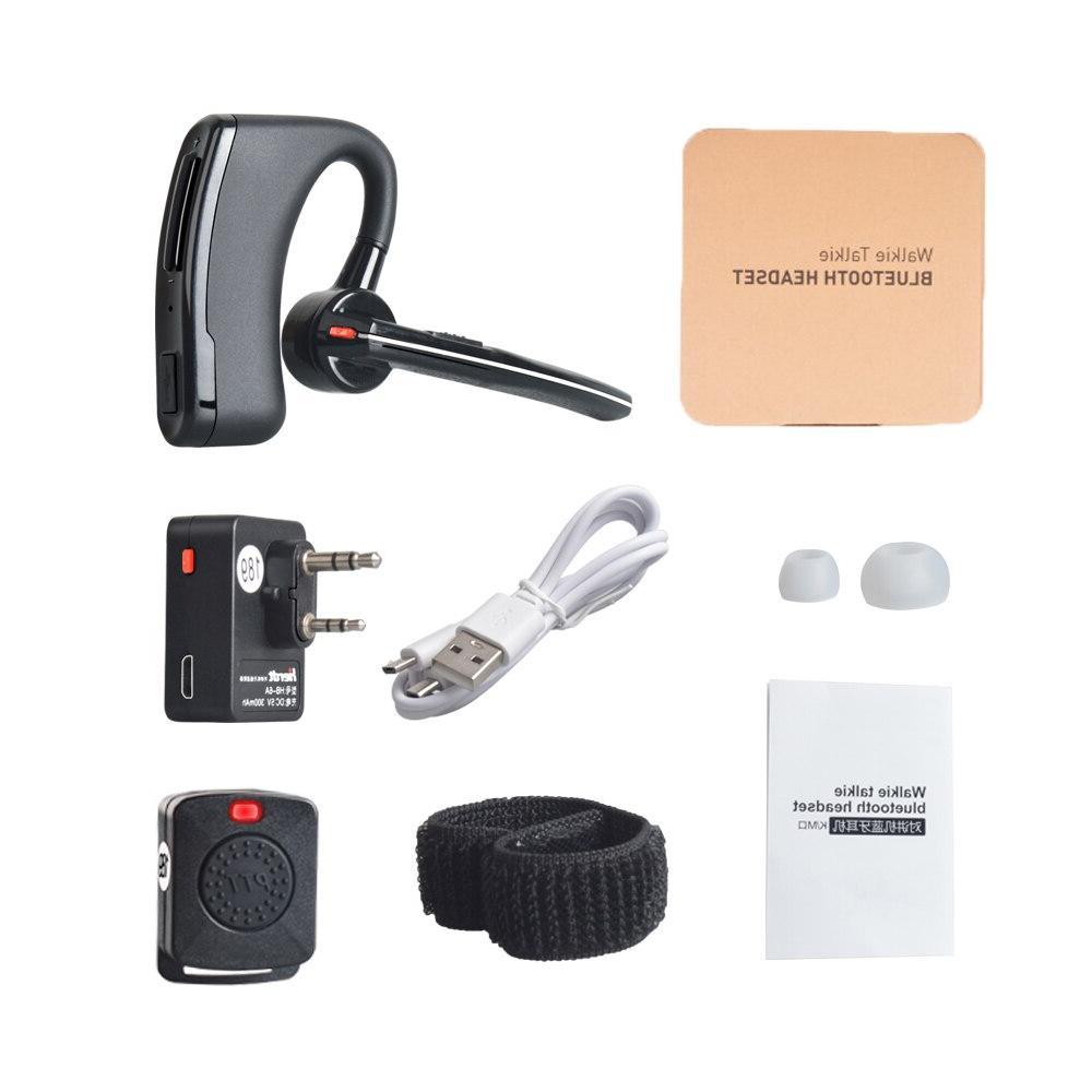 Wireless <font><b>Walkie</b></font> ptt Earpiece KENWOOD <font><b>microphone</b></font> headset Baofeng UV-82