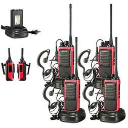 Long Range Rechargeable Walkie Talkies Set 4 Two Way Radio C