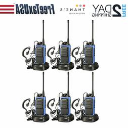 Long Range Two Way Radios With Earpiece 6 Pack UHF 400-470Mh