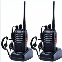 Long Range Walkie Talkie Set 50 Mile Two Way Radio Charge-He