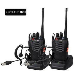 Long Range Walkie Talkies for Adults, BF-888S 2 Way Radio Re