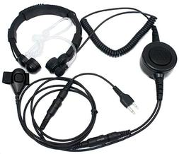 SUNDELY Military Grade Tactical Throat Mic Headset/Earpiece