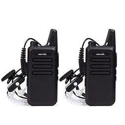 Mini Walkie Talkies with Earpiece Rechargeable 3 Watt for Ca