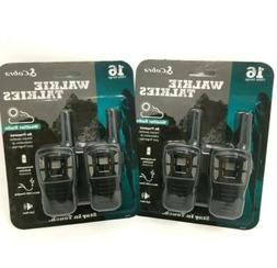 NEW  COBRA CXT145 MicroTalk 16 Mile Rechargeable Walkie Talk