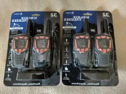NEW 4 Pack of Cobra CXT565 32-Mile 2-Way Weather Radio Walki
