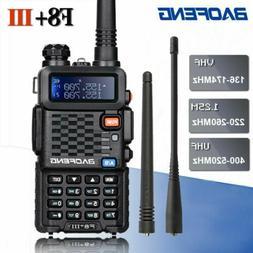 BAOFENG BF-F8+ III Tri-Band VHF/UHF Walkie Talkie 5W Two Way