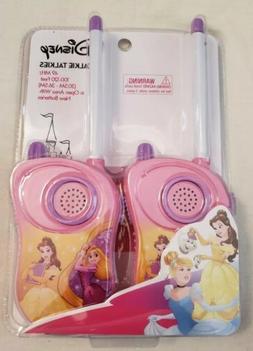 NEW! Disney Princess 49 MHz Walkie Talkies 100-120 Feet Kids