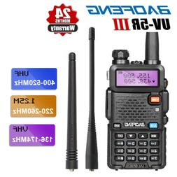 BAOFENG UV-5R III Two Way Tri-Band FM Ham Radio UHF VHF Walk