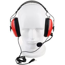 KENMAX 2 Pin Noise canceling Headset Headphone with PTT Mic