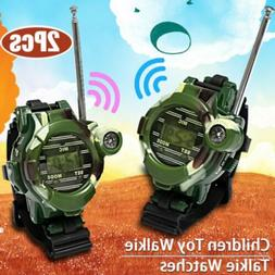Outdoor 2Pcs Watch Walkie Talkie Kids Wrist Watches Intercom