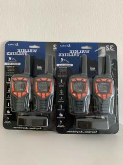 Pack of 4 Cobra CXT565 32-Mile 2-Way Weather Radio Walkie Ta