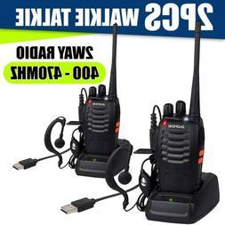 6 PACK Portable Handheld Police Radio Scanner 2 Way Transcei