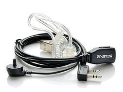 Retevis 2 Pin PTT Mic Covert Acoustic Tube Earpiece Headset