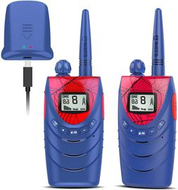 QNIGLO Rechargeable Walkie Talkies for Kids, 22 Channels FRS