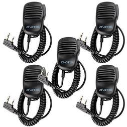 Retevis 2 Pin 2 Way Radio Speaker Mic Shoulder Mic Microphon