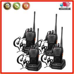 Rechargeable Long Range Two-way Radios  Earpiece Walkie Talk