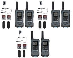 Rechargeable Walkie Talkie 6 PACK Motorola Radios T200 20 Mi