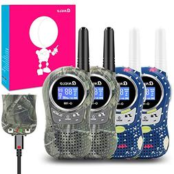 Qniglo Rechargeable Walkie Talkies, 22 Channel FRS Two Way R