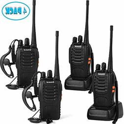 rechargeable walkie talkies 4 pack long range