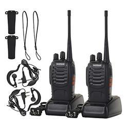 Funkprofi Rechargeable Walkie Talkies, 2 Pack Long Range UHF