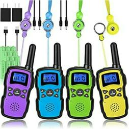 Rechargeable Walkie Talkies for Kids with Charger Battery, 4