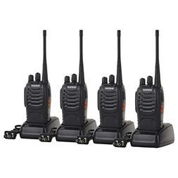 Funkprofi Rechargeable Walkie Talkies, 4 Pack Long Range UHF