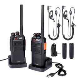 Rechargeable Walkie Talkies Long Range Two-Way Radios 2-Pack