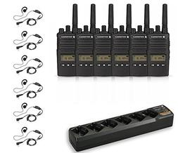 6 Pack of Motorola RMU2080d Radios with 6 Push To Talk  earp