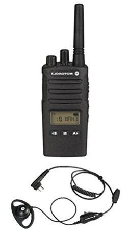 Motorola RMU2080D Two-way Radio with HKLN4599 D-shaped Earpi