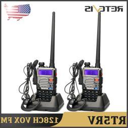 2XRetevis RT-5RV Walkie Talkies Dual Band FM Portable 2Way R
