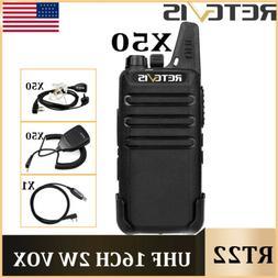 Retevis RT22 UHF 2-Way Radio 16CH 2W  CTCSS/DCS Walkie Talki
