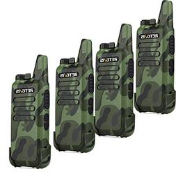 Retevis RT22 Walkie Talkie Handheld Radio Small with VOX Sca