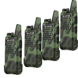 Retevis RT22 Walkie Talkie Handheld Radio Small with VOX Sca