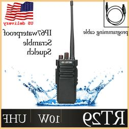 Retevis RT29 10W Walkie Talkies Waterproof two way Radio UHF