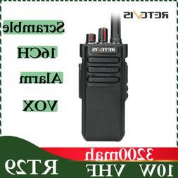 Retevis RT29 Walkie Talkie two WAY Radio VHF 10W 3200mAh VOX