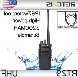 Retevis RT29 Waterproof Walkie Talkies two way Radio 10W UHF