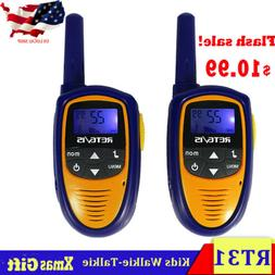 2pcs Kids Gifts Walkie Talkie Retevis RT31 UHF 22CH 0.5W  FR